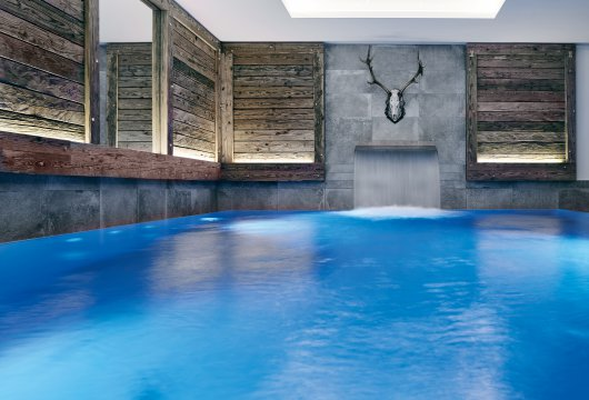 Indoorpool im Livingroom SPA